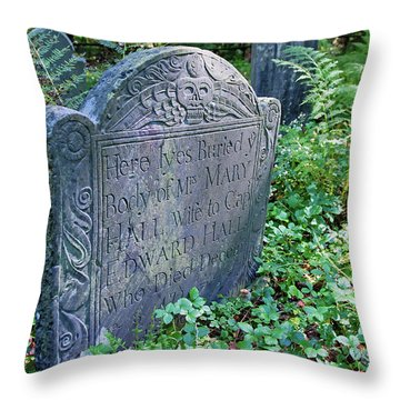 Grave Of Mary Hall Throw Pillow