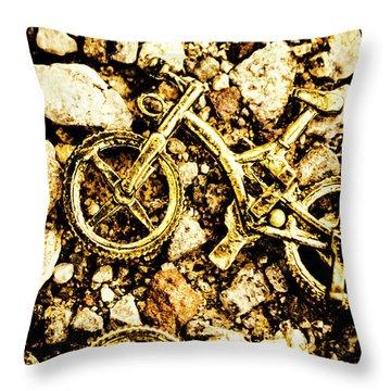 Gravel Bikes Throw Pillow