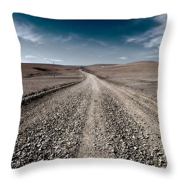 Gravel Dreams Throw Pillow