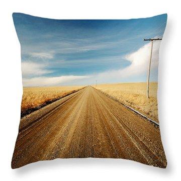 Gravel Lines Throw Pillow