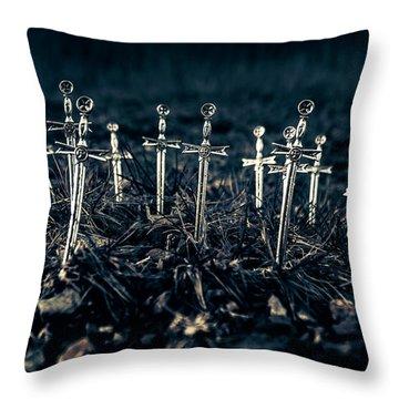 Gravely Battlefield Throw Pillow