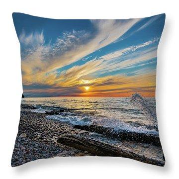 Graveyard Coast Sunset Throw Pillow