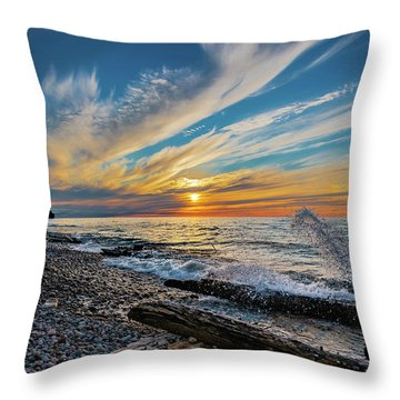 Graveyard Coast Sunset Throw Pillow