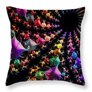 Throw Pillow featuring the digital art Gravitational Pull by Kathy Kelly
