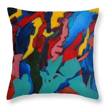 Throw Pillow featuring the painting Gravity Prevails by Bernard Goodman