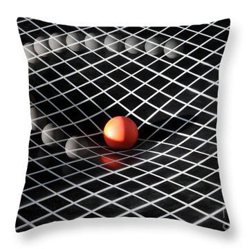 Gravity Simulation Throw Pillow by Ted Kinsman