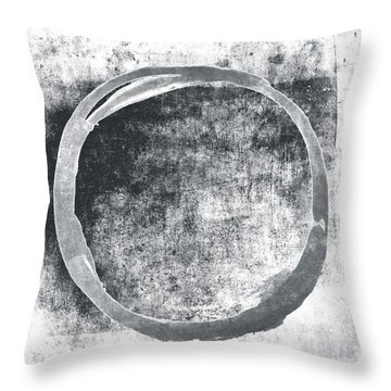 Gray Enso Throw Pillow