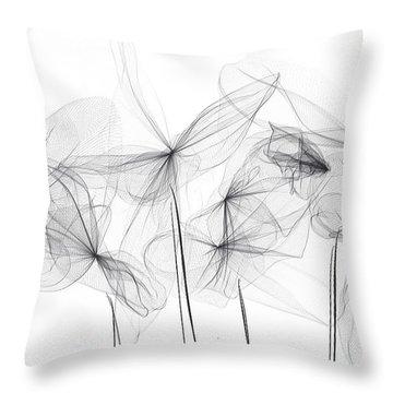 Grayish Spring - Modern Art Throw Pillow