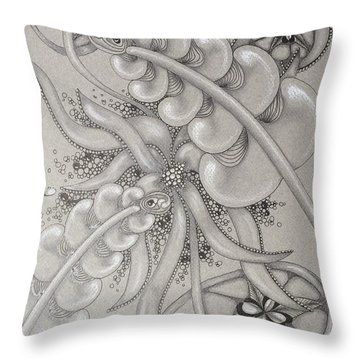 Gray Garden Explosion Throw Pillow