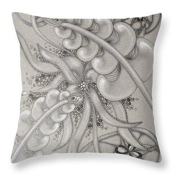 Gray Garden Explosion Throw Pillow