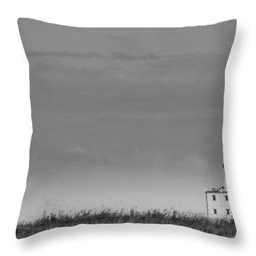 Gray Harbor In Wisconsin Throw Pillow