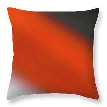 Gray Orange Grey Throw Pillow