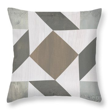 Gray Quilt Throw Pillow