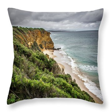 Throw Pillow featuring the photograph Gray Skies by Perry Webster