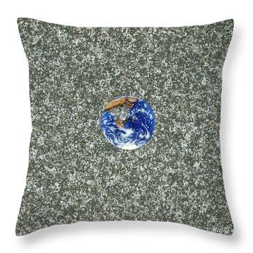 Gray Space Throw Pillow