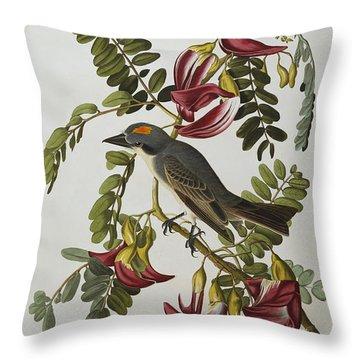 Gray Tyrant Throw Pillow by John James Audubon