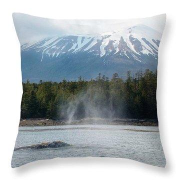 Gray Whale, Mount Edgecumbe Sitka Alaska Throw Pillow