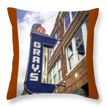 Gray's Rx In Franklin Tn Throw Pillow