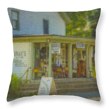 Gray's Store In Little Compton Rhode Island Throw Pillow