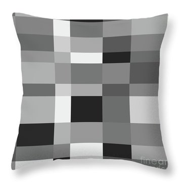 Throw Pillow featuring the digital art Grayscale Check by Bruce Stanfield