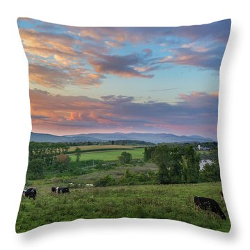 Grazing At Sunset Throw Pillow