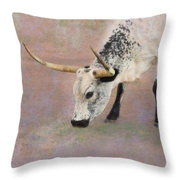 Grazing Throw Pillow by Betty LaRue