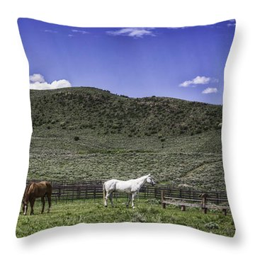 Grazing..... Throw Pillow