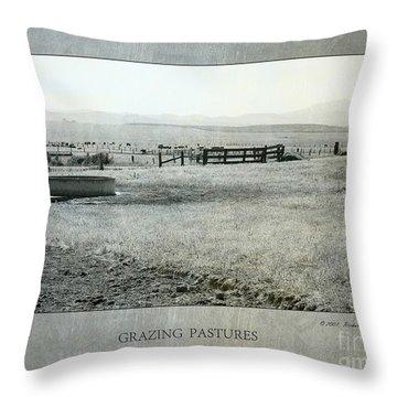 Grazing Pastures Throw Pillow