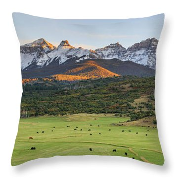 Grazing Under Sneffels Throw Pillow