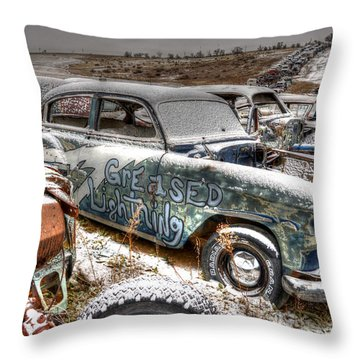 Greased Lighting Throw Pillow
