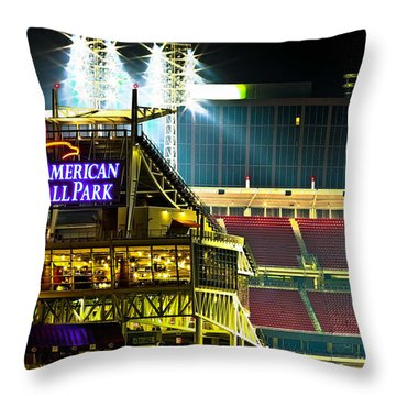 Great American Ballpark Throw Pillow