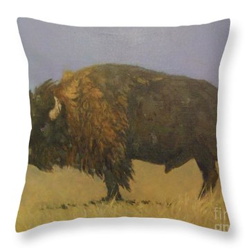 Great American Bison Throw Pillow