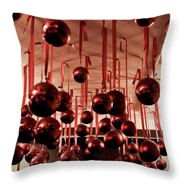Great Balls Of Macy's Throw Pillow by Lorraine Devon Wilke