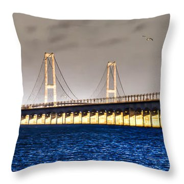 Great Belt Bridge Throw Pillow