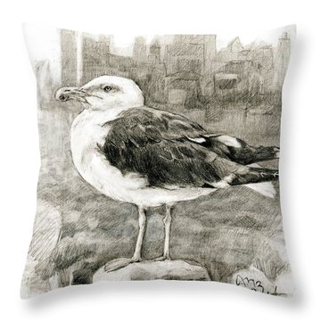 Great Black-backed Gull Throw Pillow