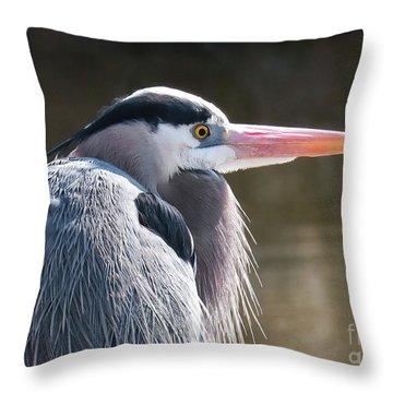 Great Blue Beauty Throw Pillow