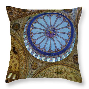 Great Blue Dome Throw Pillow