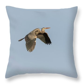 Throw Pillow featuring the photograph Great Blue Heron 2015-15 by Thomas Young