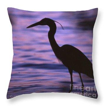 Great Blue Heron Photo Throw Pillow