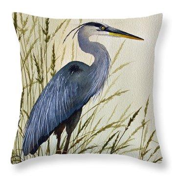 Great Blue Heron Splendor Throw Pillow