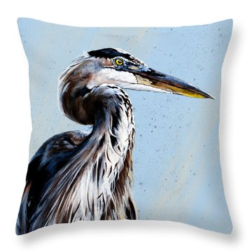 Great Blue Theodore Throw Pillow