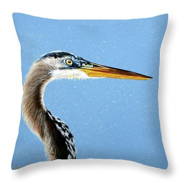 Great Blue Walter Throw Pillow