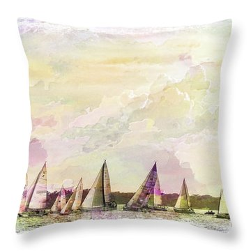 Great Day For Sailing 2 Throw Pillow