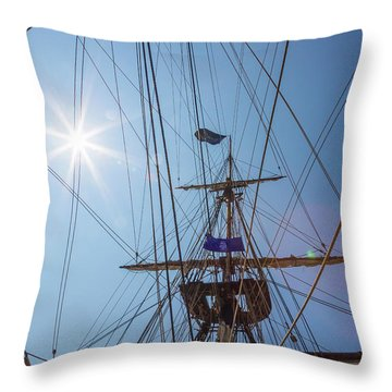 Throw Pillow featuring the photograph Great Day To Sail A Tall Ship by Dale Kincaid