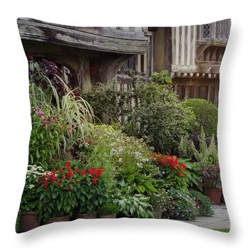 Great Dixter House And Gardens At Sunset 2 Throw Pillow