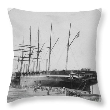 Great Eastern 1858-59 Throw Pillow by Granger