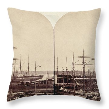Great Eastern 1859 Throw Pillow by Granger