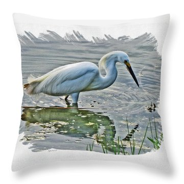 Great Egret 1157-2 Throw Pillow