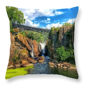 Great Falls In Paterson Throw Pillow