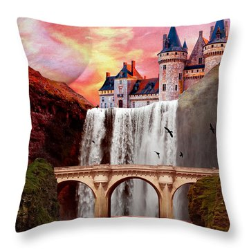 Great Falls Castle Throw Pillow